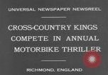 Image of motor bike race Richmond England, 1931, second 6 stock footage video 65675041981