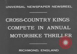 Image of motor bike race Richmond England, 1931, second 7 stock footage video 65675041981