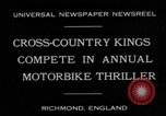 Image of motor bike race Richmond England, 1931, second 9 stock footage video 65675041981