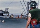 Image of USS Pollux unrep of USS Constellation Gulf of Tonkin Vietnam, 1967, second 5 stock footage video 65675042001