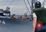 Image of USS Pollux unrep of USS Constellation Gulf of Tonkin Vietnam, 1967, second 7 stock footage video 65675042001