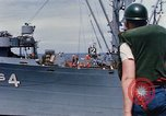 Image of USS Pollux unrep of USS Constellation Gulf of Tonkin Vietnam, 1967, second 8 stock footage video 65675042001
