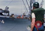 Image of USS Pollux unrep of USS Constellation Gulf of Tonkin Vietnam, 1967, second 11 stock footage video 65675042001