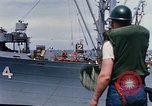 Image of USS Pollux unrep of USS Constellation Gulf of Tonkin Vietnam, 1967, second 12 stock footage video 65675042001