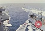 Image of USS Pollux and USS Constellation Gulf of Tonkin Vietnam, 1967, second 1 stock footage video 65675042002