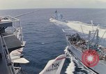 Image of USS Pollux and USS Constellation Gulf of Tonkin Vietnam, 1967, second 6 stock footage video 65675042002