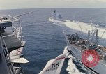 Image of USS Pollux and USS Constellation Gulf of Tonkin Vietnam, 1967, second 8 stock footage video 65675042002