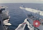 Image of USS Pollux and USS Constellation Gulf of Tonkin Vietnam, 1967, second 11 stock footage video 65675042002