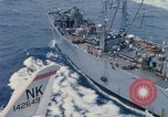 Image of USS Pollux and USS Constellation Gulf of Tonkin Vietnam, 1967, second 12 stock footage video 65675042002