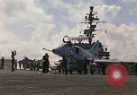 Image of USS Constellation launching aircraft during Vietnam War Yankee Station Vietnam, 1967, second 7 stock footage video 65675042047