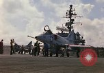 Image of USS Constellation launching aircraft during Vietnam War Yankee Station Vietnam, 1967, second 10 stock footage video 65675042047