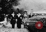 Image of Three women strolling in a park Paris France, 1907, second 2 stock footage video 65675042050