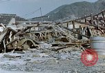 Image of fire truck trapped Nagasaki Japan, 1946, second 10 stock footage video 65675042182