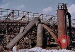Image of collapsed metal stack Nagasaki Japan, 1946, second 6 stock footage video 65675042187