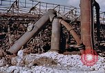 Image of collapsed metal stack Nagasaki Japan, 1946, second 11 stock footage video 65675042187