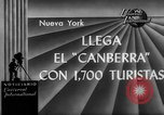 Image of British liner Canberra New York United States USA, 1962, second 2 stock footage video 65675042224