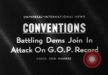 Image of Democratic convention 1960 candidates Los Angeles California USA, 1960, second 5 stock footage video 65675042238