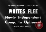 Image of European refugees Congo, 1960, second 2 stock footage video 65675042239