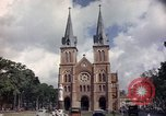 Image of catholic church Saigon Vietnam, 1964, second 8 stock footage video 65675042318