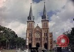 Image of catholic church Saigon Vietnam, 1964, second 10 stock footage video 65675042318
