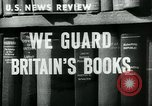 Image of Preserving British books during World War 2 Washington DC USA, 1943, second 1 stock footage video 65675042334