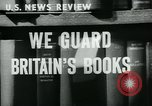 Image of Preserving British books during World War 2 Washington DC USA, 1943, second 3 stock footage video 65675042334