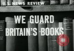 Image of Preserving British books during World War 2 Washington DC USA, 1943, second 5 stock footage video 65675042334