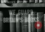 Image of Preserving British books during World War 2 Washington DC USA, 1943, second 6 stock footage video 65675042334