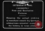 Image of German U-Boat sinks British ship Atlantic Ocean, 1917, second 7 stock footage video 65675042366