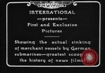 Image of German U-Boat sinks British ship Atlantic Ocean, 1917, second 8 stock footage video 65675042366