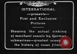 Image of German U-Boat sinks British ship Atlantic Ocean, 1917, second 9 stock footage video 65675042366
