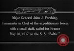 Image of Major General John Pershing France, 1918, second 7 stock footage video 65675042370