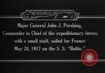 Image of Major General John Pershing France, 1918, second 8 stock footage video 65675042370
