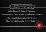 Image of Major General John Pershing France, 1918, second 12 stock footage video 65675042370