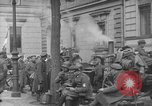 Image of German troops on city sidewalks European Theater, 1918, second 2 stock footage video 65675042458