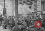 Image of German troops on city sidewalks European Theater, 1918, second 3 stock footage video 65675042458