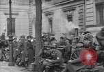 Image of German troops on city sidewalks European Theater, 1918, second 4 stock footage video 65675042458
