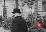 Image of German troops on city sidewalks European Theater, 1918, second 5 stock footage video 65675042458