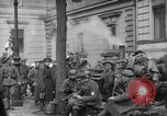 Image of German troops on city sidewalks European Theater, 1918, second 6 stock footage video 65675042458