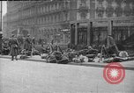 Image of German troops on city sidewalks European Theater, 1918, second 7 stock footage video 65675042458
