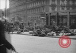 Image of German troops on city sidewalks European Theater, 1918, second 8 stock footage video 65675042458