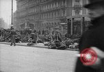Image of German troops on city sidewalks European Theater, 1918, second 9 stock footage video 65675042458