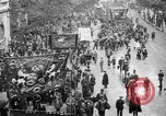 Image of Trade unionists protest high food prices during World War I London England United Kingdom, 1916, second 10 stock footage video 65675042461