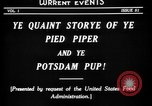 Image of Animated Uncle Sam as Pied Piper United States USA, 1918, second 6 stock footage video 65675042476