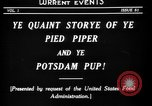 Image of Animated Uncle Sam as Pied Piper United States USA, 1918, second 7 stock footage video 65675042476