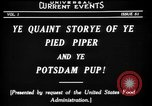 Image of Animated Uncle Sam as Pied Piper United States USA, 1918, second 11 stock footage video 65675042476
