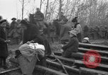 Image of French refugees with American soldiers in World War I France, 1918, second 5 stock footage video 65675042495