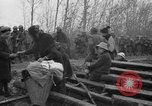 Image of French refugees with American soldiers in World War I France, 1918, second 10 stock footage video 65675042495