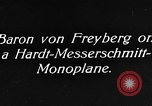 Image of Baron Von Freyberg Germany, 1922, second 3 stock footage video 65675042530