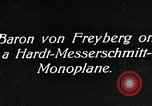 Image of Baron Von Freyberg Germany, 1922, second 9 stock footage video 65675042530